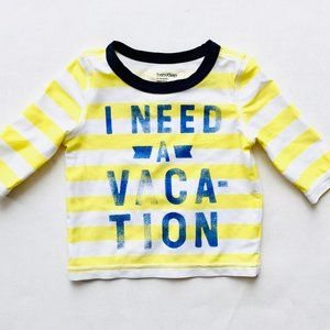 Baby Gap Yellow Stripe Rash Guard